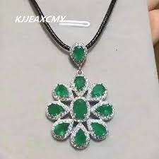 kjjeaxcmy boutique jewelry natural emerald pendant inlaid silver sterling silver jewelry whole nike s925 whole