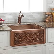 24 vine design copper farmhouse sink