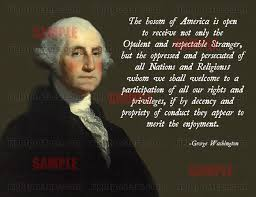 Immigration Quotes Beauteous George Washington Immigration Quote Poster