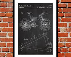 on downhill mountain bike wall art with bike decor etsy
