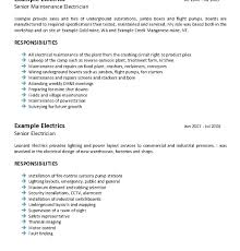 Mining Resume Template