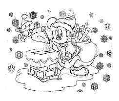 Small Picture Disney Mickey Mouse Christmas Coloring Pages Coloring Pages