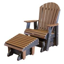 outdoor glider rocker. Front Porch Bench Materials To Consider : Cozy Outdoor Glider Chair Designed With Brown Wooden Seat Rocker H