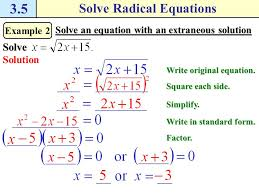 add to each side example 1 solve a radical equation