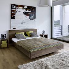 ... Float Contemporary Walnut Platform Bed