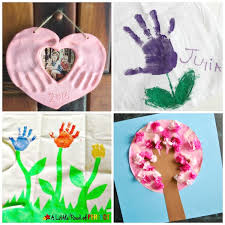 Mother's day simple flowers artful adventures: Mother S Day Handprint Crafts For Children