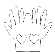 hand mirror template for kids. why prayer works praying hands printable template   love card to print and color hand mirror for kids