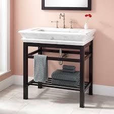 best choice of best bathroom sinks. Appealing Modern Console Vanity With Carrara Marble Sink Top Oil Rubbed At Bathroom Consoles Best Choice Of Sinks