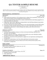 resume for qa tester