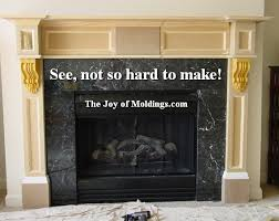 easy to make mdf fireplace mantel