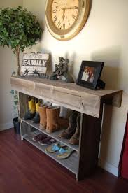 ... Best Entryway Shoe Storage Ideas Organizer Large Console Table Entry  Sofa Raw Wood Foot Large Size ...