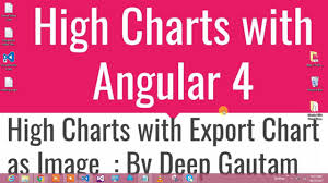 High Chart Angular Highcharts With Export In Angular 4
