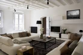 lighting for beams. Lighting For Beams. Vintage Wooden Tables With Contemporary Cream Living Room Sofas Under Track Beams A