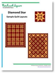 Diamond Star - Free Quilt Block Pattern & ... a little variation on the usual 'star' quilt blocks. There are both  large and small pieces so it is an enjoyable process to make the final  product. Adamdwight.com