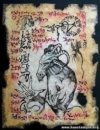 page from the demonology of ysra