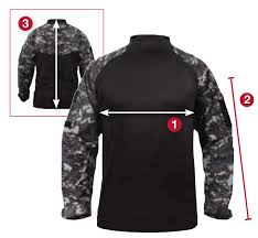 Rothco Military Combat Shirt Size Chart