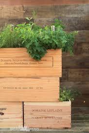 box garden. How To Make A Wood Wine Box Herb Garden