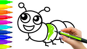 Art For Kids Art For Kids How To Draw And Color Caterpillar Learning