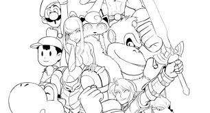 Small Picture super mario smash bros coloring pages Archives Cool Coloring