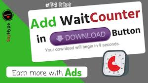 Download Timer Add Timer Countdown In Download Button Of Your Website Hindi