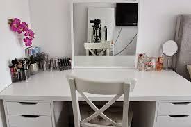 ikea makeup desk storage and organization linnmon alex drawers