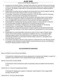 Military Veteran Resume Examples 74 Images Production