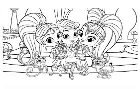 Shimmer En Shine Kleurplaat Shimmer And Shine Coloring Pages To