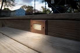 outdoor led deck lights. led step lights - rectangular deck / accent light, 12v or 120v: installed in outdoor led