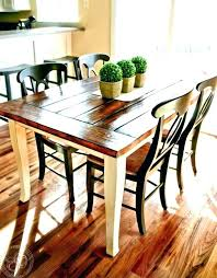 farm table and bench farmhouse dining set with bench and chairs farmhouse round dining table charming