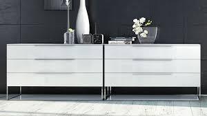matte white lacquer and glass milano dresser  zuri furniture