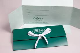 Customized Gift Certificates Custom Printed Gift Card Boxes Folders Morgan Chaney