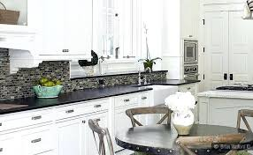 backsplash for white kitchen cabinets and black granite countertops ideas image wonderful glass mosaic cabinet