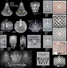 3 of 5 chandelier style modern ceiling light shade droplet pendant acrylic crystal bead