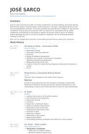 Sr Advance Tester Automation Tester Resume samples
