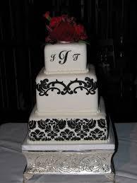 Damask Wedding Cakes Tami S Black White Damask Wedding Cake