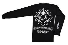 Chromic Hertz Chrome Hearts Men Large Size Long T Shirt Black
