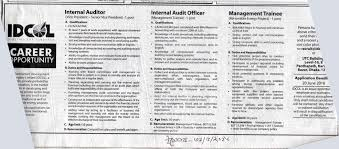 jobs available 1 internal auditor management trainee