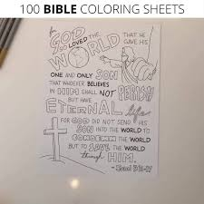 As mentioned earlier, learning about colours is tough even for the smartest child. Christianity Cove 100 Bible Coloring Sheets Facebook