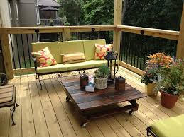 deck wrought iron table. Refinished The Wrought Iron Furniture And Made New Cushions. Hubby Coffee Table Out Deck