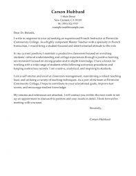 Teacher Cover Letter Example Leading Professional Master Teacher Cover Letter Examples
