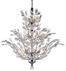 crystal tree branch chandelier light chrome 12 swarovski pertaining to most recently released crystal branch chandelier