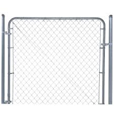 chain link fence. H Galvanized Metal Adjustable Single Walk-Through Chain Link Fence Gate-3283AD48 - The Home Depot P