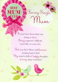 Mother Day Card For My Single Mum Mothers Day Card Cards