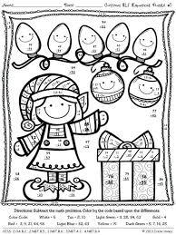 Santa Math Coloring Sheets Swifteus