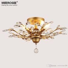 vintage crystal chandelier light fixture american style res suspension lampara de techo dining room living room lighting pendant light crystal