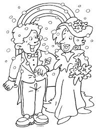 45 Jaar Huwelijk Kleurplaat Kleurplaat Trouwen Huwelijk Kleurplaten
