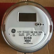 watthour meter general electric ge watthour meter kwh model i 210