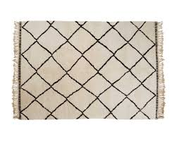 beni ourain woolen berber rug with diamond pattern from moroccan atlas mountains available in all sizes