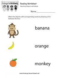 Best Kindergarten English Worksheets Ideas On Pinterest Learning ...
