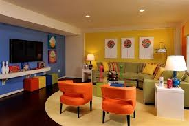 basement makeover ideas. Room Decorating Design Idea On Basement With Chic And Stunned Furniture White Side Table Playroom Ideas Makeover